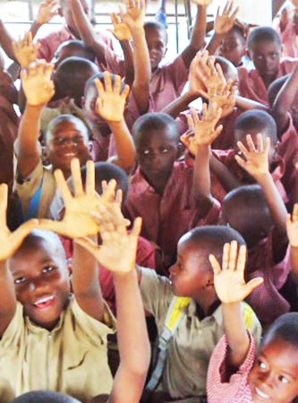 Kids in an Ophanage near Abidjan, Côte d'Ivoire